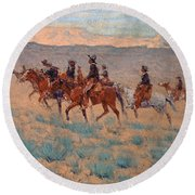 The Cowpunchers Round Beach Towel