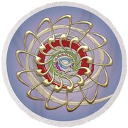 The Creation Round Beach Towel by Serge Averbukh