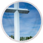 The Cross At Effingham Illinois Round Beach Towel