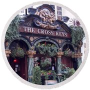 The Cross Keys Round Beach Towel