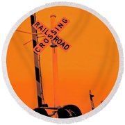 The Crossing A Round Beach Towel