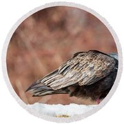 The Crow And Vulture Round Beach Towel