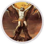 The Crucifixion Of St Andrew Round Beach Towel