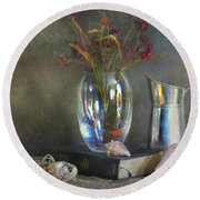 The Crystal Vase Round Beach Towel