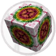 The Cube 5 Round Beach Towel