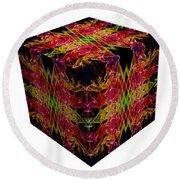 The Cube 8 Round Beach Towel