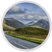 The Cuillin Mountains Of Skye 2 Round Beach Towel
