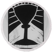 The Cup Round Beach Towel by Barbara St Jean