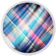 The Curtain Of Space Round Beach Towel