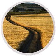 The Curved Way. Round Beach Towel