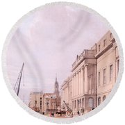 The Custom House, From London Round Beach Towel