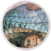 The Dali Museum St Petersburg Round Beach Towel by Mal Bray