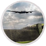 The Dambusters Over The Derwent Round Beach Towel