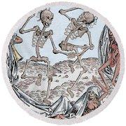 The Dance Of Death Round Beach Towel