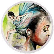 The Dancer In Me Round Beach Towel