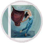 The Dancer Round Beach Towel