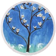 The Darling Buds Of February Round Beach Towel
