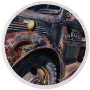 The Darlins Truck Round Beach Towel by David Arment