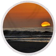 The Day Comes To Life Round Beach Towel