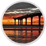 The Day Has Arrived  Round Beach Towel