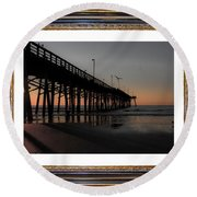 The Day Is Born Round Beach Towel