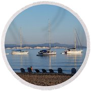 The Day Is Gone Two Round Beach Towel