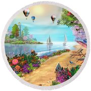 The Day's Glory Round Beach Towel