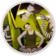 The De-escalating Dream - Self Portrait Round Beach Towel