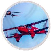 The De Havilland Dh90 Dragonfly Round Beach Towel