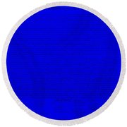 The Declaration Of Independence In Blue Round Beach Towel