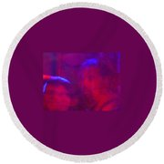 The Deep Purple Three Round Beach Towel