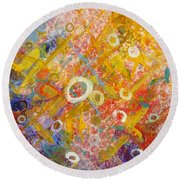 The Degrees Of Color  2 Round Beach Towel