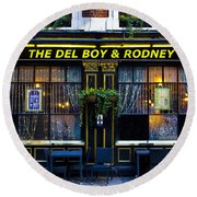 The Del Boy And Rodney Pub Round Beach Towel