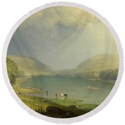 The Delaware Water Gap Round Beach Towel