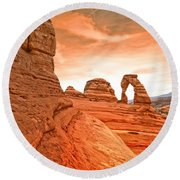 The Delicate Arch Round Beach Towel