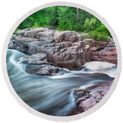 The Dells Of The Eau Claire River  Round Beach Towel
