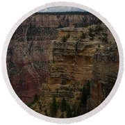 The Depths Of The Canyons Round Beach Towel