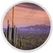The Desert Beckons  Round Beach Towel