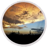 The Desert Sky  Round Beach Towel