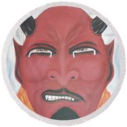 The Devil Is The Detail Round Beach Towel