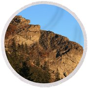 The Devil's Courthouse - Blue Ridge Parkway Round Beach Towel