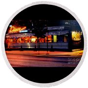 The Diner On Sycamore Round Beach Towel