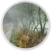The Disappearing Man - Wolfscote Dale Round Beach Towel