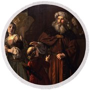 The Dismissal Of Hagar, 1650 Round Beach Towel