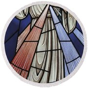 The Divine Mercy Round Beach Towel