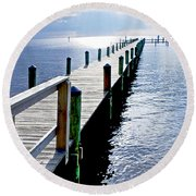 The Dock Of The Bay Round Beach Towel