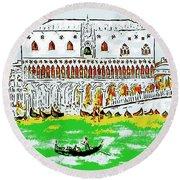 The Doge's Palace Round Beach Towel