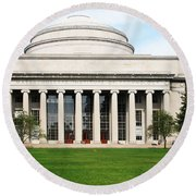 The Dome At Mit Round Beach Towel