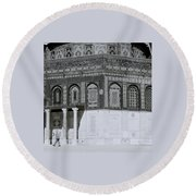 The Dome Of The Rock Round Beach Towel