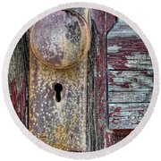 The Door Knob Round Beach Towel